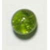 Glass Bead Cracked 8mm Olivine - Strung